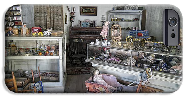 Toy Store iPhone Cases - Victorian Toy Shop - Virginia City Montana iPhone Case by Daniel Hagerman