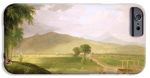 1796 iPhone Cases - View of Rutland - Vermont iPhone Case by Asher Brown Durand