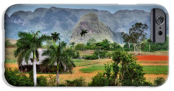 Historic Site iPhone Cases - Vinales. Pinar del Rio. Cuba iPhone Case by Juan Carlos Ferro Duque