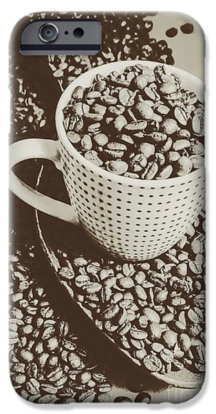 Vintage Coffee Art. Stimulant IPhone 6 Case by Jorgo Photography - Wall Art Gallery