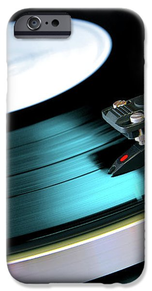 Vinyl Record iPhone Case by Carlos Caetano