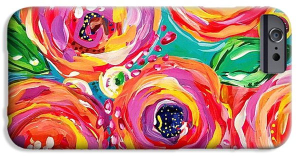 Bright iPhone 6 Case - Vivid Flora by DAKRI Sinclair