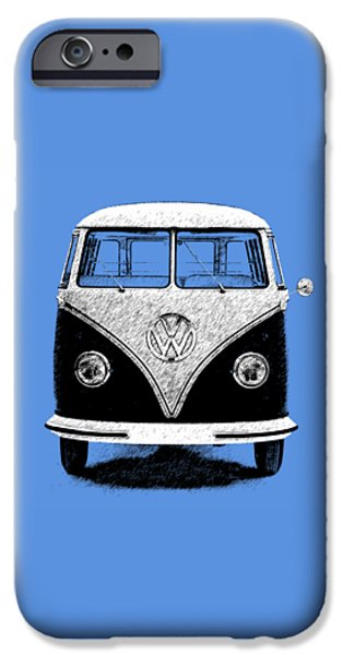 Volkswagen iPhone Cases - Volkswagen T1 1963 iPhone Case by Mark Rogan