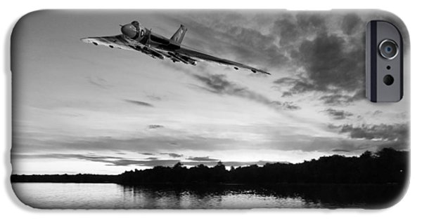 IPhone 6 Case featuring the digital art Vulcan Low Over A Sunset Lake Sunset Lake Bw by Gary Eason