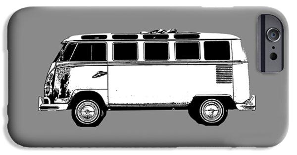 Shirt Digital iPhone Cases - VW Bug T-shirt iPhone Case by Edward Fielding