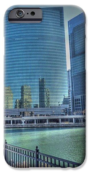 Franklin iPhone Cases - Wacker Drive iPhone Case by David Bearden