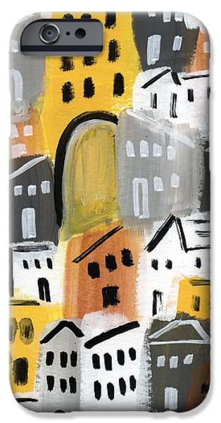 Village iPhone 6 Case - Waiting For Autumn- Expressionist Art by Linda Woods