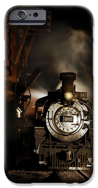 Rio Grande iPhone Cases - Waiting for More Coal iPhone Case by Ken Smith