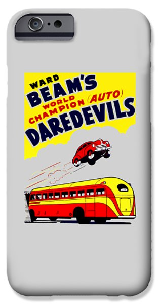 Bus Photographs iPhone Cases - Ward Beams Daredevils iPhone Case by Mark Rogan