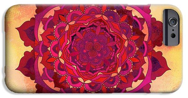 Buddhism iPhone 6 Case - Warm Autumn Mandala by Thubakabra