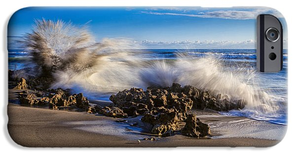 Nature iPhone 6 Case - Water And Earth Collide by Andres Leon