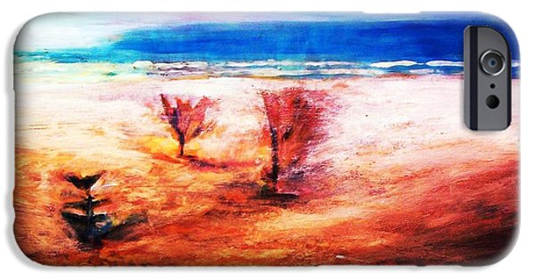 IPhone 6 Case featuring the painting Water And Earth by Winsome Gunning