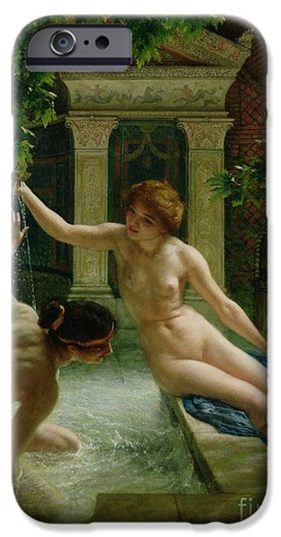 Odalisque iPhone Cases - Water Babies iPhone Case by Sir Edward John Poynter