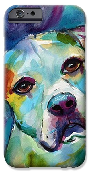 Watercolor American Bulldog Painting By IPhone 6 Case