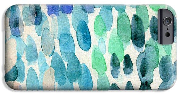 Water Ocean iPhone 6 Case - Waterfall 2- Abstract Art By Linda Woods by Linda Woods
