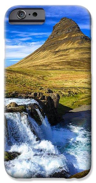 Amazing iPhone 6 Case - Waterfall In Iceland Kirkjufellfoss by Matthias Hauser