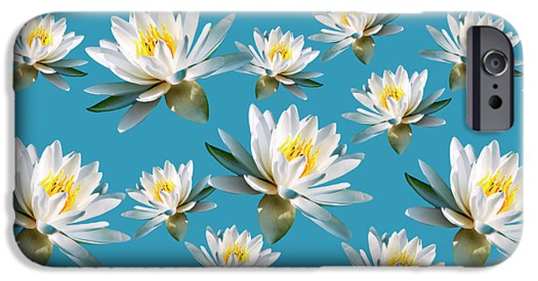 IPhone 6 Case featuring the mixed media Waterlily Pattern by Christina Rollo