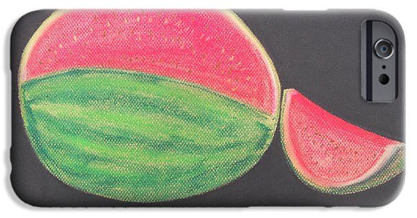 Watermelon Pastels iPhone Cases - Watermelon iPhone Case by Jose Valeriano