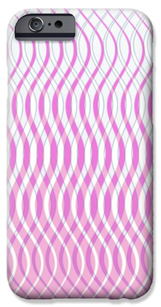 Gina Manley iPhone Cases - Wavy Stripes iPhone Case by Gina Lee Manley