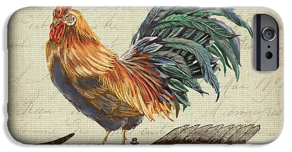 Ironwork iPhone 6 Case - Weathervane Rooster-jp3772 by Jean Plout
