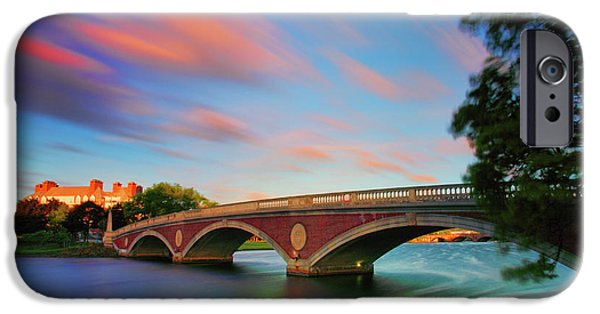 Charles River iPhone Cases - Weeks Bridge iPhone Case by Rick Berk