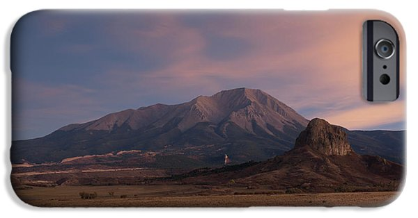 IPhone 6 Case featuring the photograph West Spanish Peak Sunset by Aaron Spong