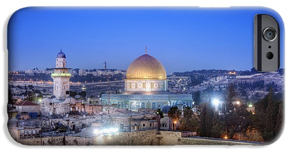 Israeli iPhone Cases - Western Wall and Dome of the Rock iPhone Case by Noam Armonn