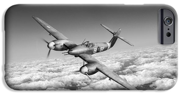 IPhone 6 Case featuring the photograph Westland Whirlwind Portrait Black And White Version by Gary Eason
