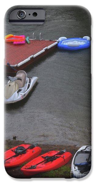 Jet Ski iPhone 6 Case - When It Rains At The Lake by Skip Willits