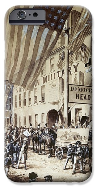 1840 iPhone Cases - Whig Party Parade, 1840 iPhone Case by Granger