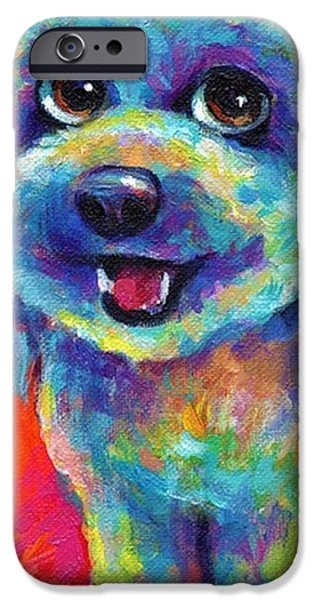 Whimsical Labradoodle Painting By IPhone 6 Case
