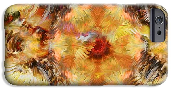 Abstract Digital iPhone Cases - Whispering Feathers iPhone Case by Daniel  Arrhakis