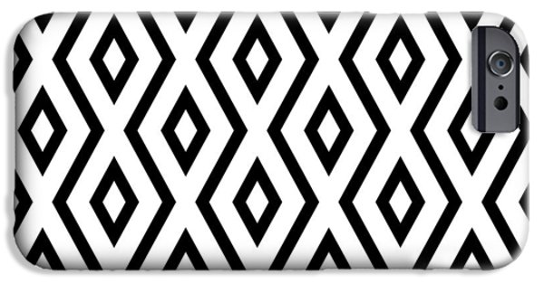 Artwork iPhone 6 Case - White And Black Pattern by Christina Rollo