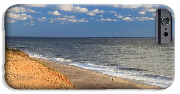 Cape Cod iPhone Cases - White Crest Ocean Beach Cape Cod iPhone Case by John Burk