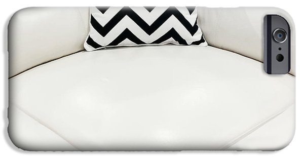 White Leather Sofa With Decorative Cushion IPhone 6 Case