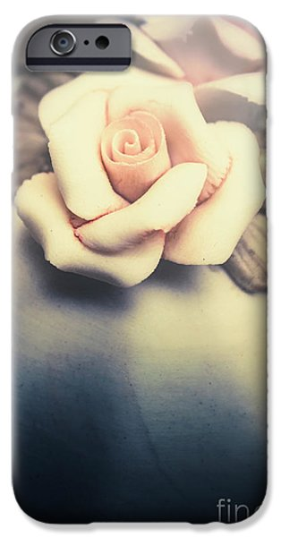 Sepia iPhone 6 Case - White Porcelain Rose by Jorgo Photography - Wall Art Gallery