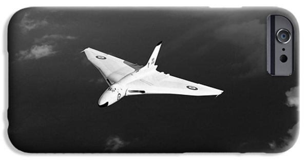 IPhone 6 Case featuring the digital art White Vulcan B1 At Altitude Black And White Version by Gary Eason