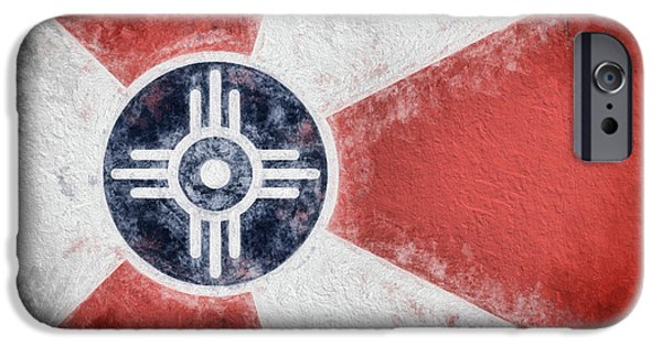 IPhone 6 Case featuring the digital art Wichita City Flag by JC Findley