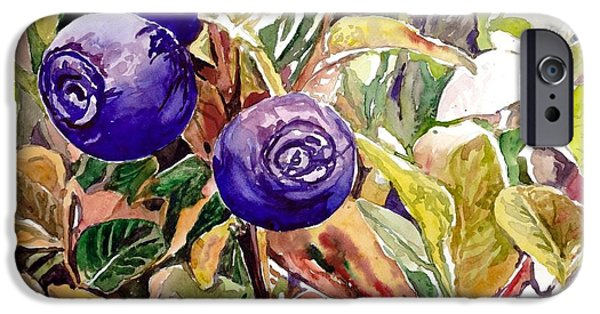 Smoothie iPhone 6 Case - Wild Blueberries by Suzann Sines