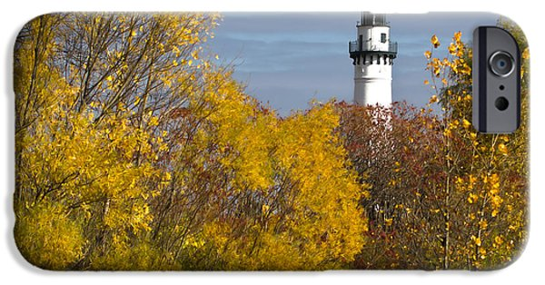 Wind Point Lighthouse In Fall IPhone 6 Case