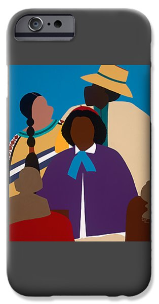 iPhone 6 Case - Wildfire A Tribute To Edmonia Lewis by Synthia SAINT JAMES