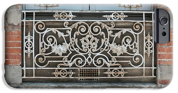 Ironwork iPhone 6 Case - Window In Toulouse by Elena Elisseeva