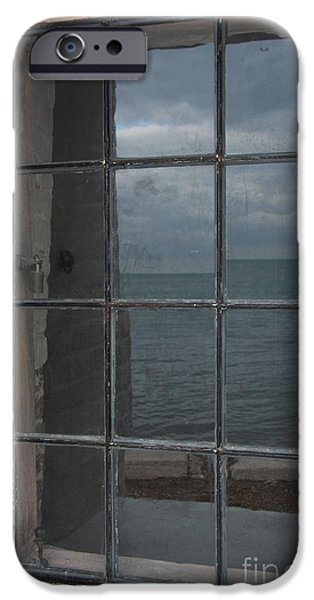 Boat iPhone Cases - Window To The Sea iPhone Case by Christiane Schulze Art And Photography