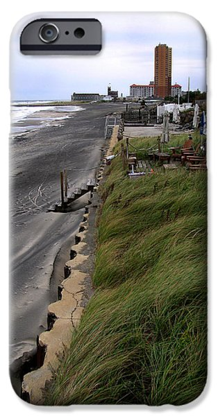 Buildings By The Ocean iPhone Cases - Windswept iPhone Case by Colleen Kammerer