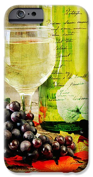 Table Wine iPhone Cases - WIne iPhone Case by Darren Fisher