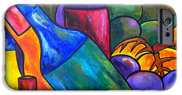Italian Wine Paintings iPhone Cases - Wine In Purple iPhone Case by Patti Schermerhorn