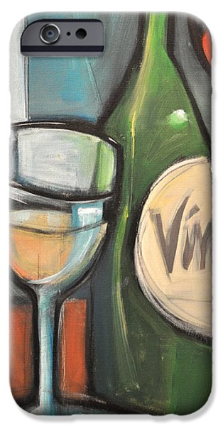 Table Wine iPhone Cases - Wine is Bottled Poetry iPhone Case by Tim Nyberg