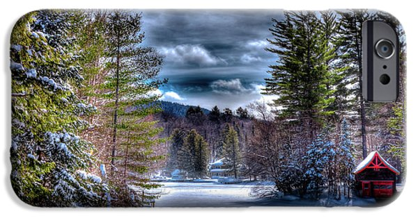 IPhone 6 Case featuring the photograph Winter At The Boathouse by David Patterson