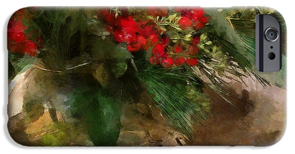 Winter Flowers In Glass Vase IPhone 6 Case
