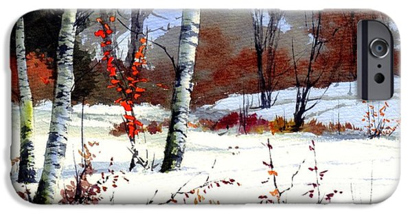 Village iPhone 6 Case - Wintertime Painting by Suzann Sines